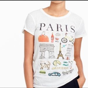 J. Crew Factory Paris Collector Tees Sz Med Crew